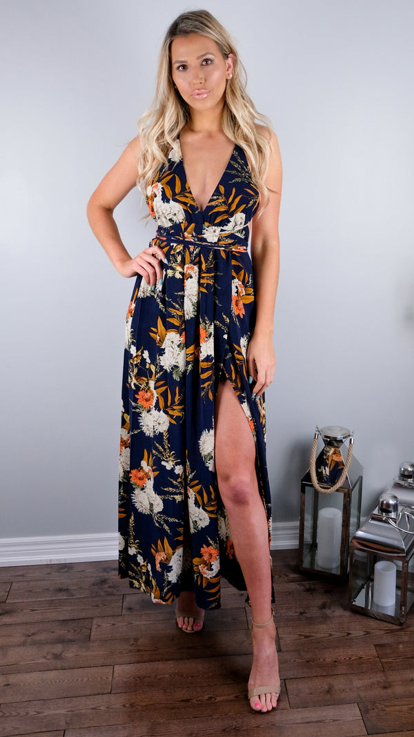Good Vibes Only Dress in Tropical Floral