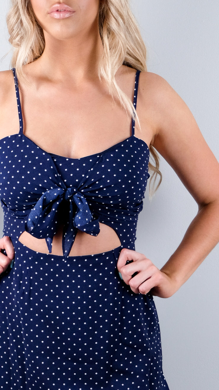 Excusez-Moi Dress in Navy