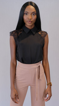 Wishing Well Blouse in Black