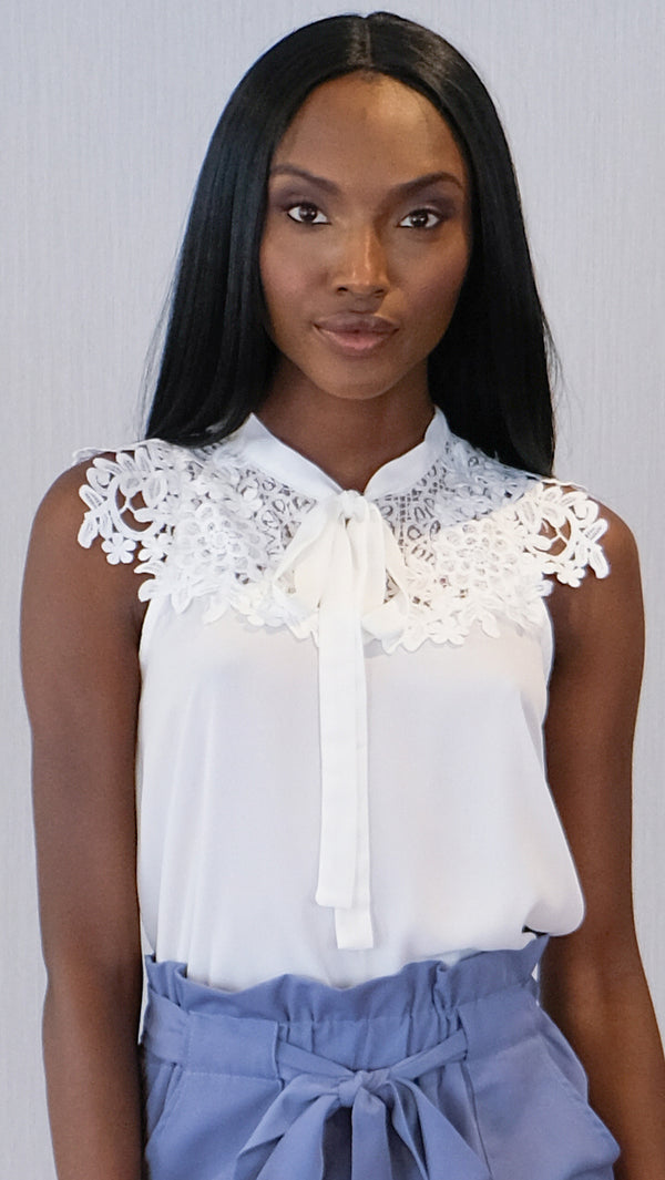 Unlimited Charm Blouse in White