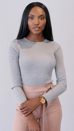 Vanilla Kiss Sweater in Grey