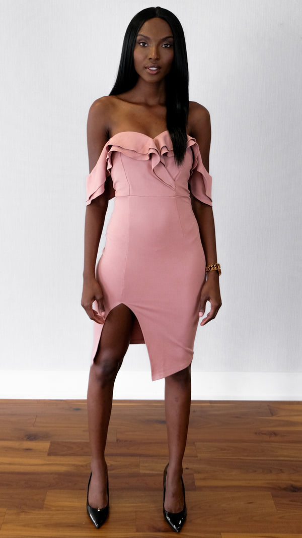 Chasing Love Dress in Mauve