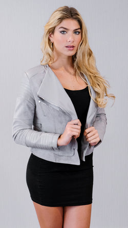 Like Never Before Jacket in Grey