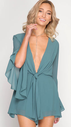 blue playsuit romper