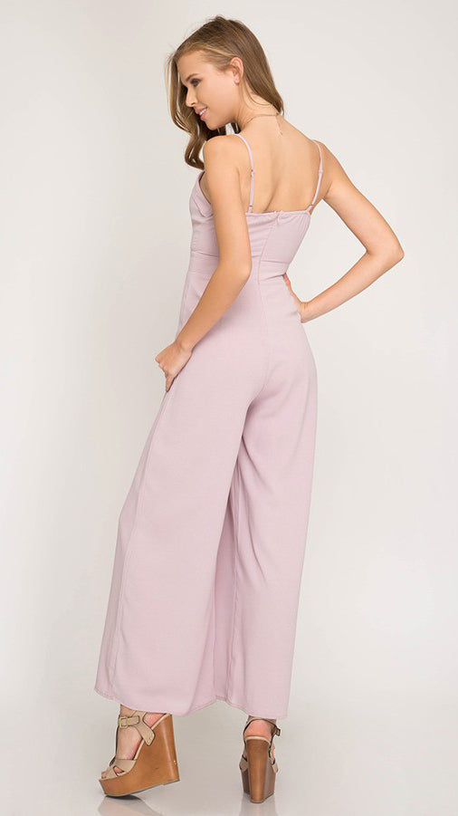 Kiss and Tell Jumpsuit in Dusty Rose