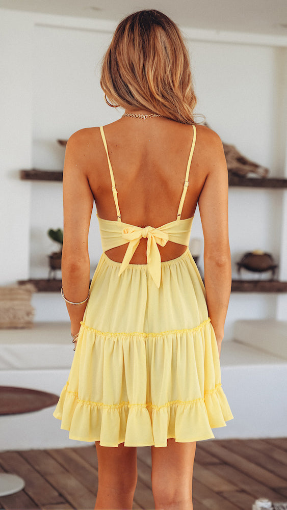 La Vie est Tres Belle Dress in Marigold