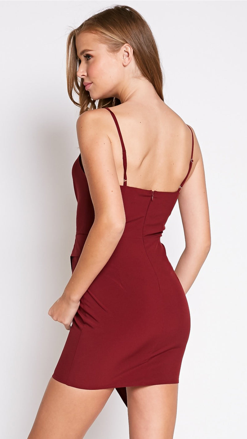 Rendezvous Dress in Burgundy