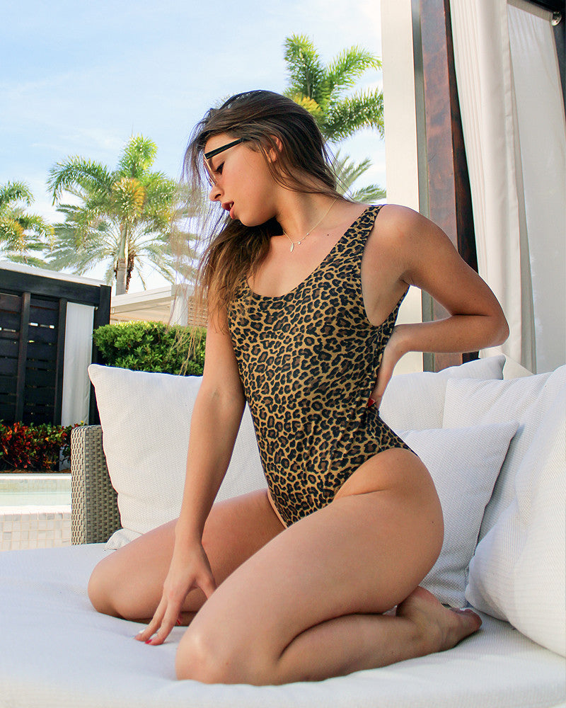 Wild Life Cheetah Print Swimsuit