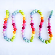 New! Extra Long Wool Felt Garland - 6 ft with no spacing! Whimsy Rainbow