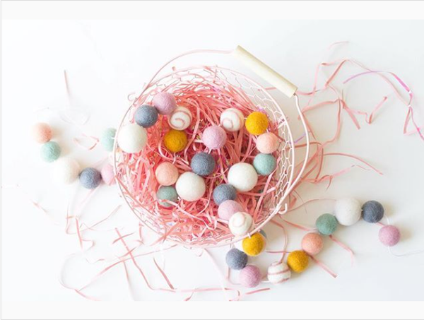 New! Extra Long Wool Felt Garland - 5.5 ft Easter Garland