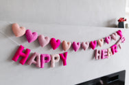Happy Hearts Woolie Letter Garland