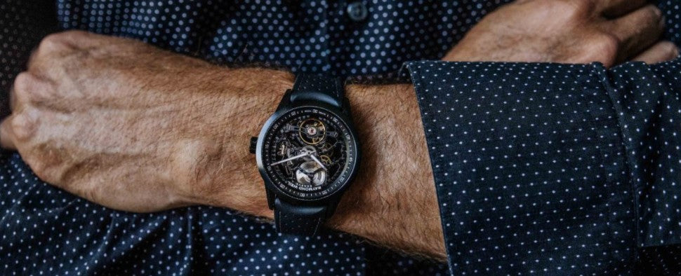 RAYMOND WEIL'S NEW SKELETON WATCH LOOKS A MILLION BUCKS FOR A LOT LESS. BY DMARGE