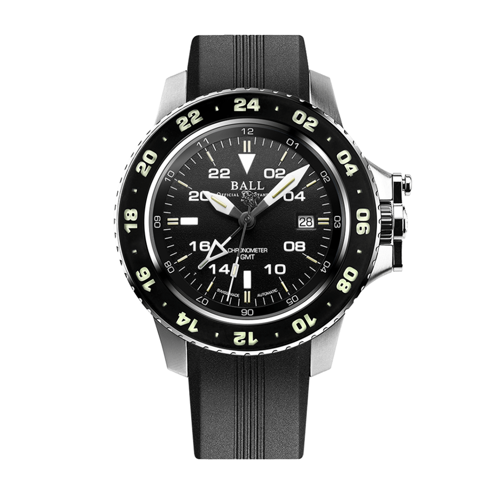 Engineer Hydrocarbon AeroGMT II (42mm) Black / Rubber