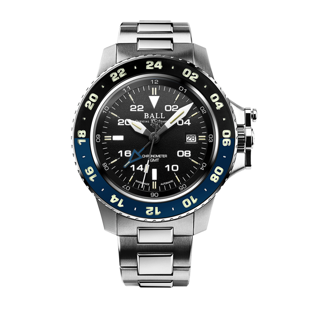 Engineer Hydrocarbon AeroGMT II (42mm) Black / Steel