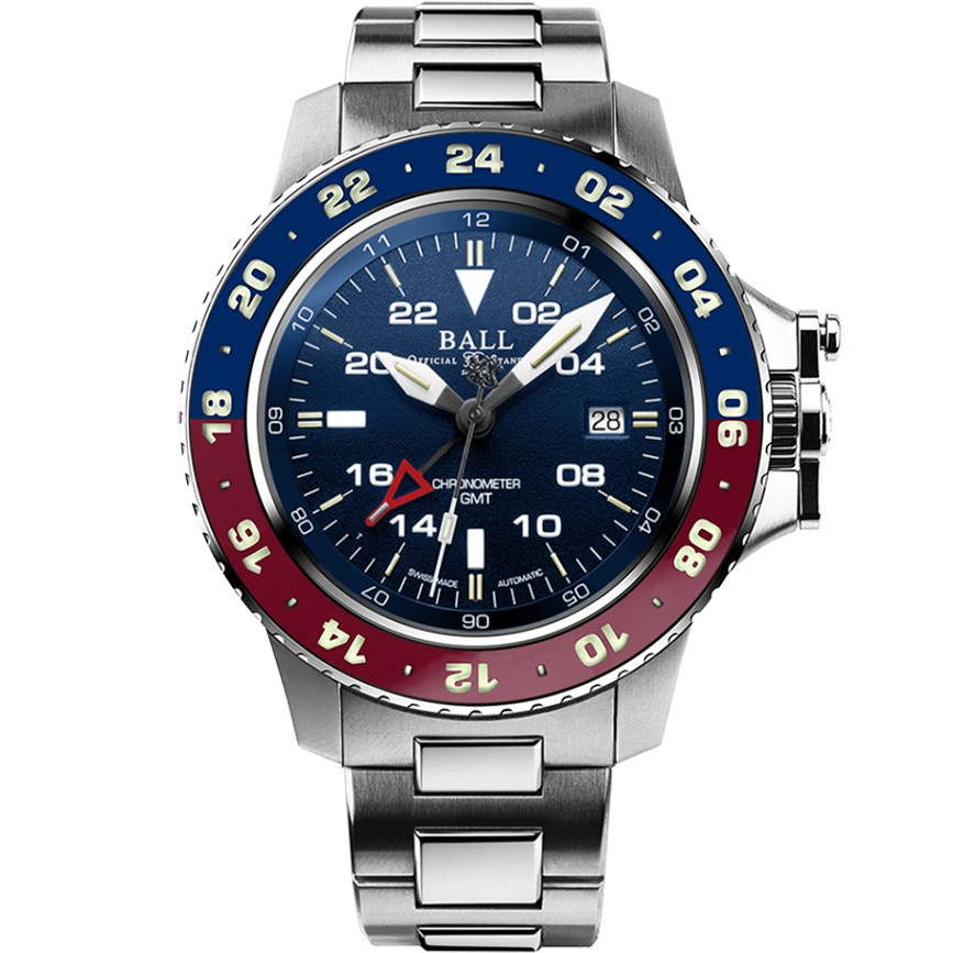 Engineer Hydrocarbon AeroGMT II (42mm) Blue / Steel