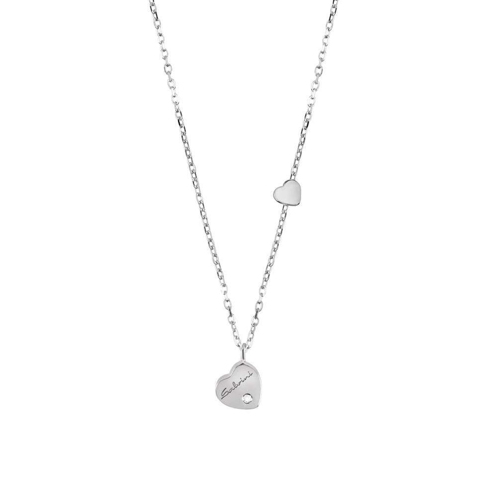 Salvini BE HAPPY White Gold Heart Necklace with Diamond