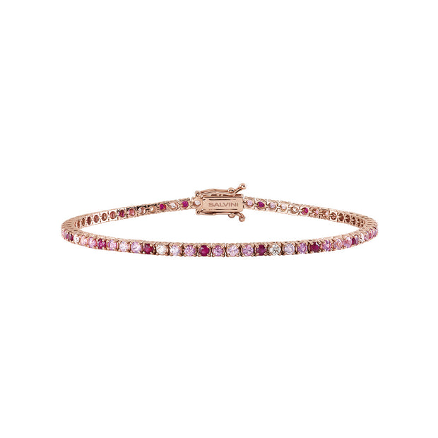 CLASSICO Rose Gold Bracelet with Sapphires, Rubies and Diamonds