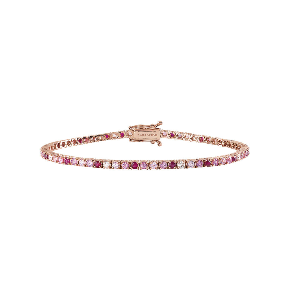 Salvini CLASSICO Rose Gold Bracelet with Sapphires, Rubies and Diamonds