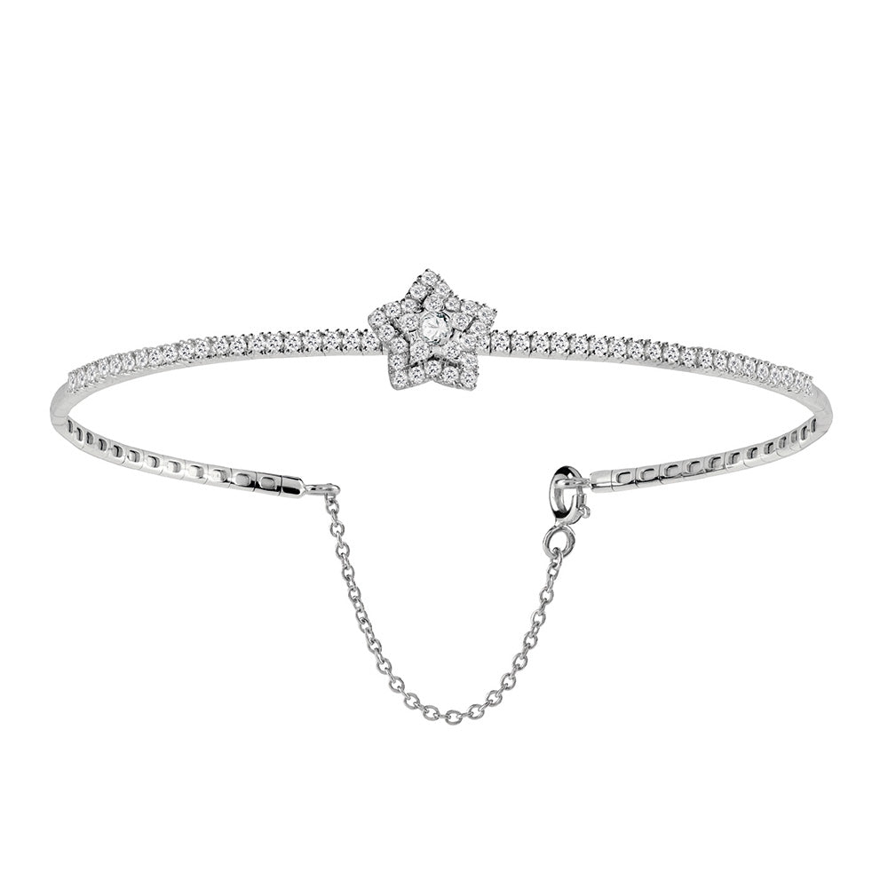 Salvini DAPHNE White Gold and Diamonds Star Bracelet