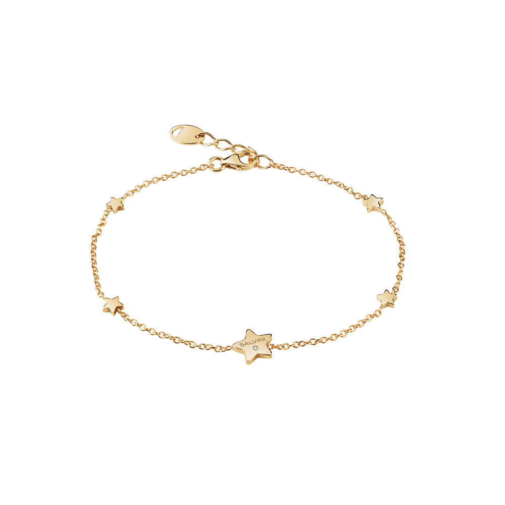 Salvini I SEGNI 9KT Yellow Gold Star Bracelet with Diamond