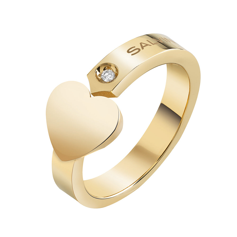 I SEGNI Yellow Gold Ring with Diamond