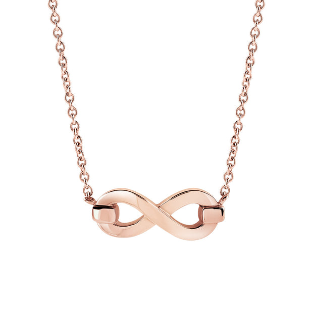 INFINITO S Rose Gold Infinity Necklace