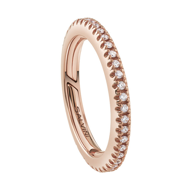 Salvini PER SEMPRE Rose Gold Full Diamond Eternity Band