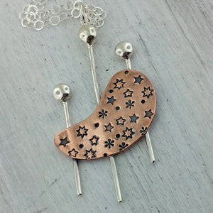 Kidney Shape in Outer Space Necklace