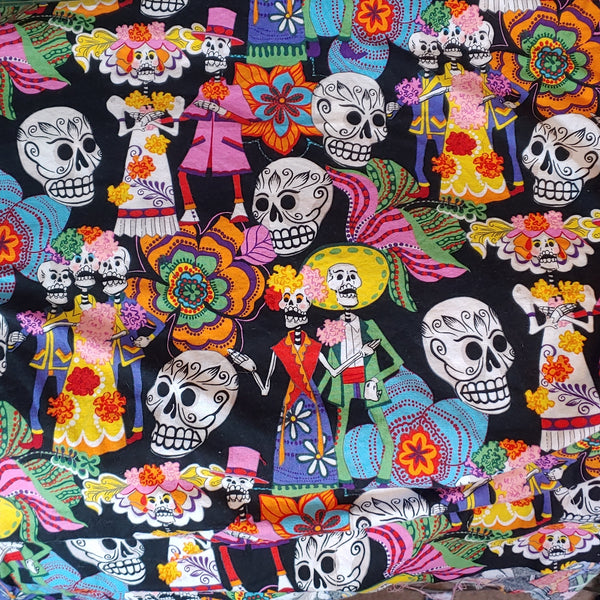 Sugar Skulls Reversible Fabric Face Mask