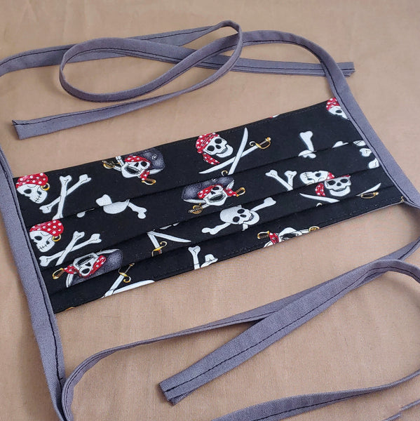 Pirate Skulls Reversible Fabric Face Mask