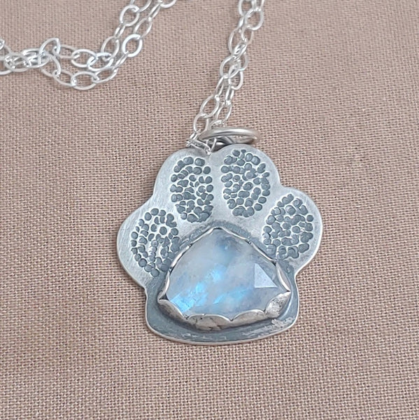 Custom Listing for Jessica - 2 Dog Paw Necklaces