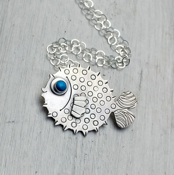 Option for puffer fish necklace