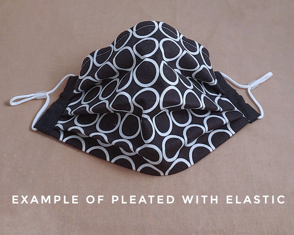 Black and Gray Mod Squares Fabric Face Mask