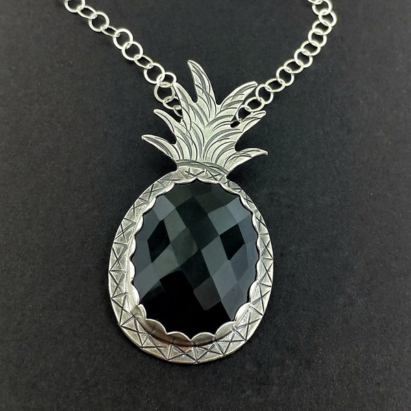Onyx Pineapple Necklace