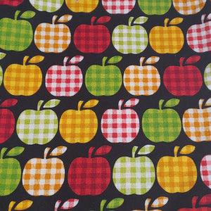 Plaid Apples Fabric Face Mask