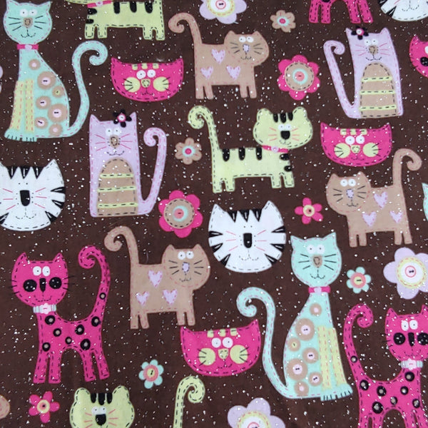 Cats on Glitter Background
