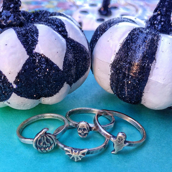 Halloween-y Sterling Silver Rings