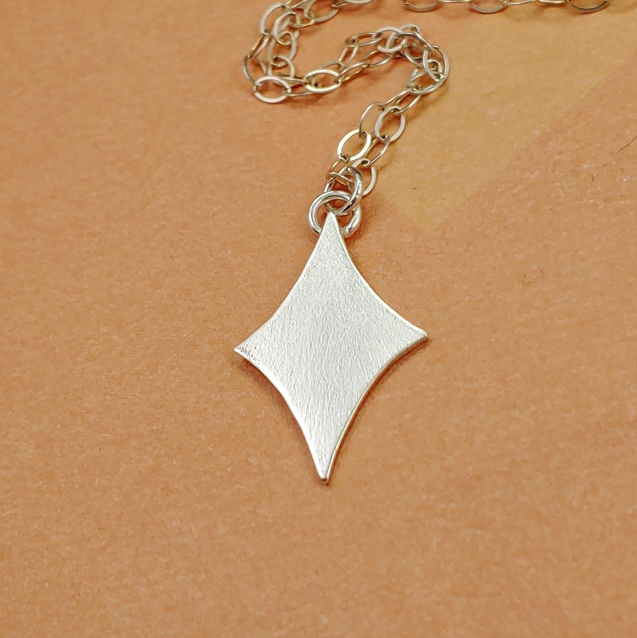 Custom Order - Sterling Silver Retro Diamond Necklaces