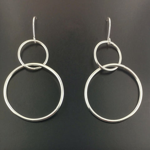 Figure 8 Sterling Silver Hoop Earrings