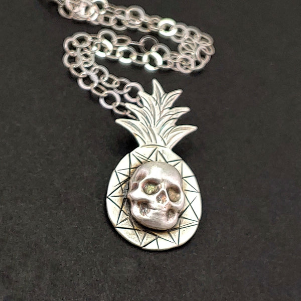 Pineapple Skull Necklace