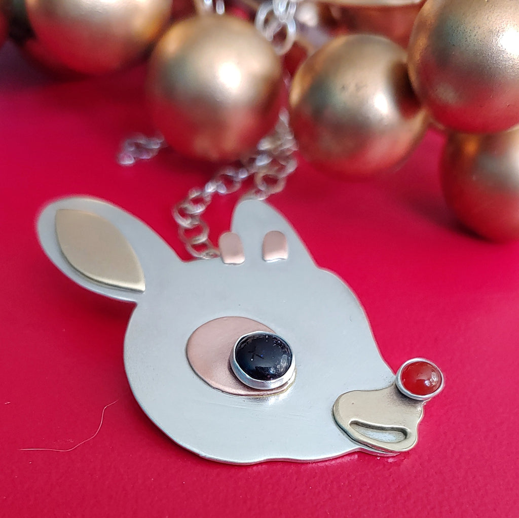 Rudolph Necklace  - Sterling Silver