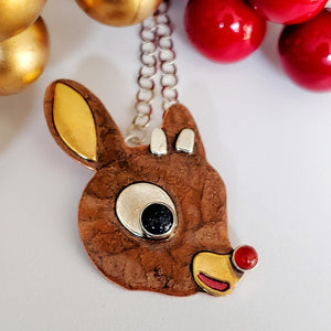 Rudolph Necklace - Brown
