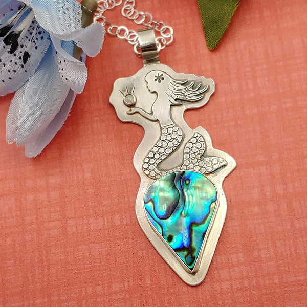 Mermaid Necklace with Abalone Shell