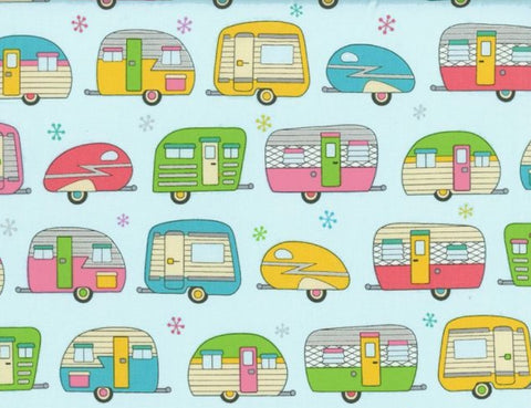 Vintage Trailers Reversible Fabric Face Mask