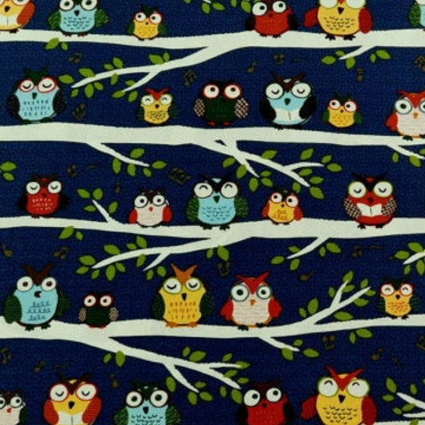 Colorful Owls Reversible Fabric Face Mask