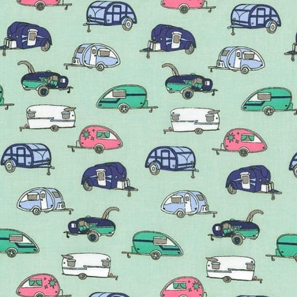 Vintage Campers Reversible Fabric Face Mask