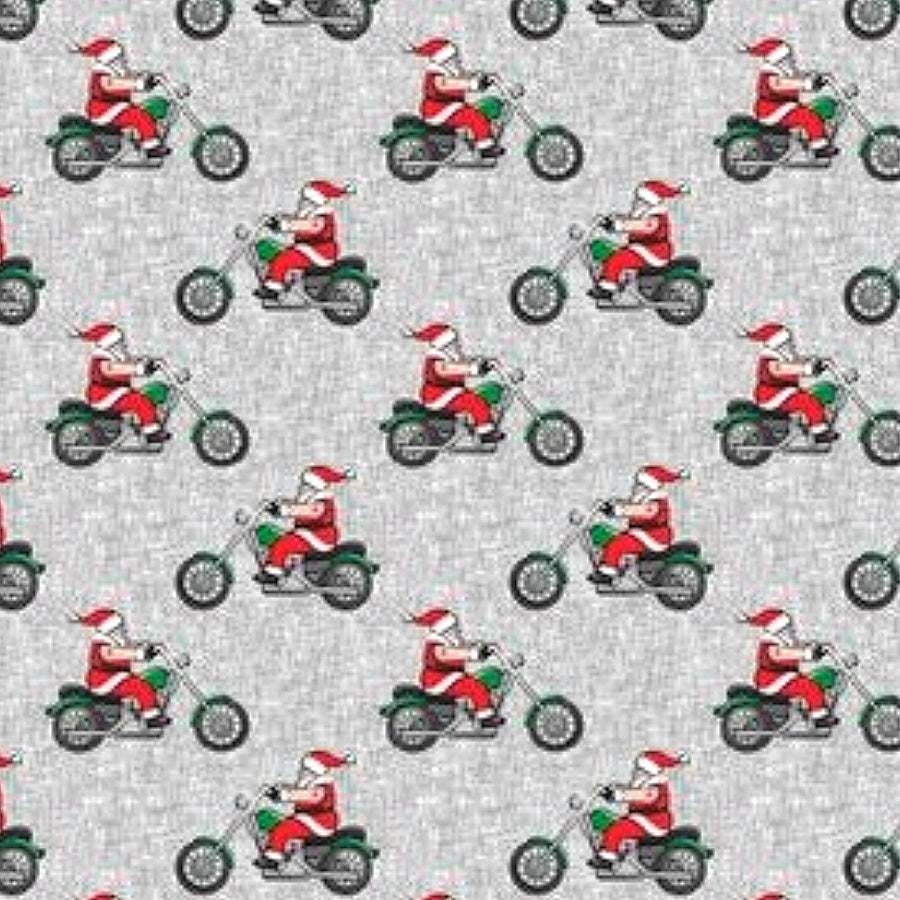 Santa on Motorcycle Fabric Face Mask
