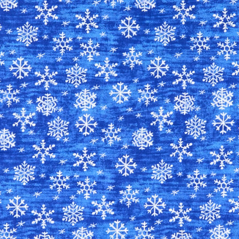 Snowflakes on Blue Fabric Face Mask