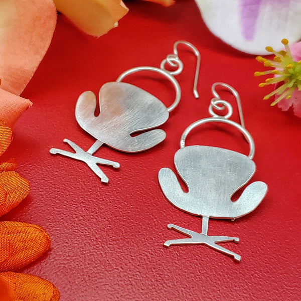 Swan chair earrings