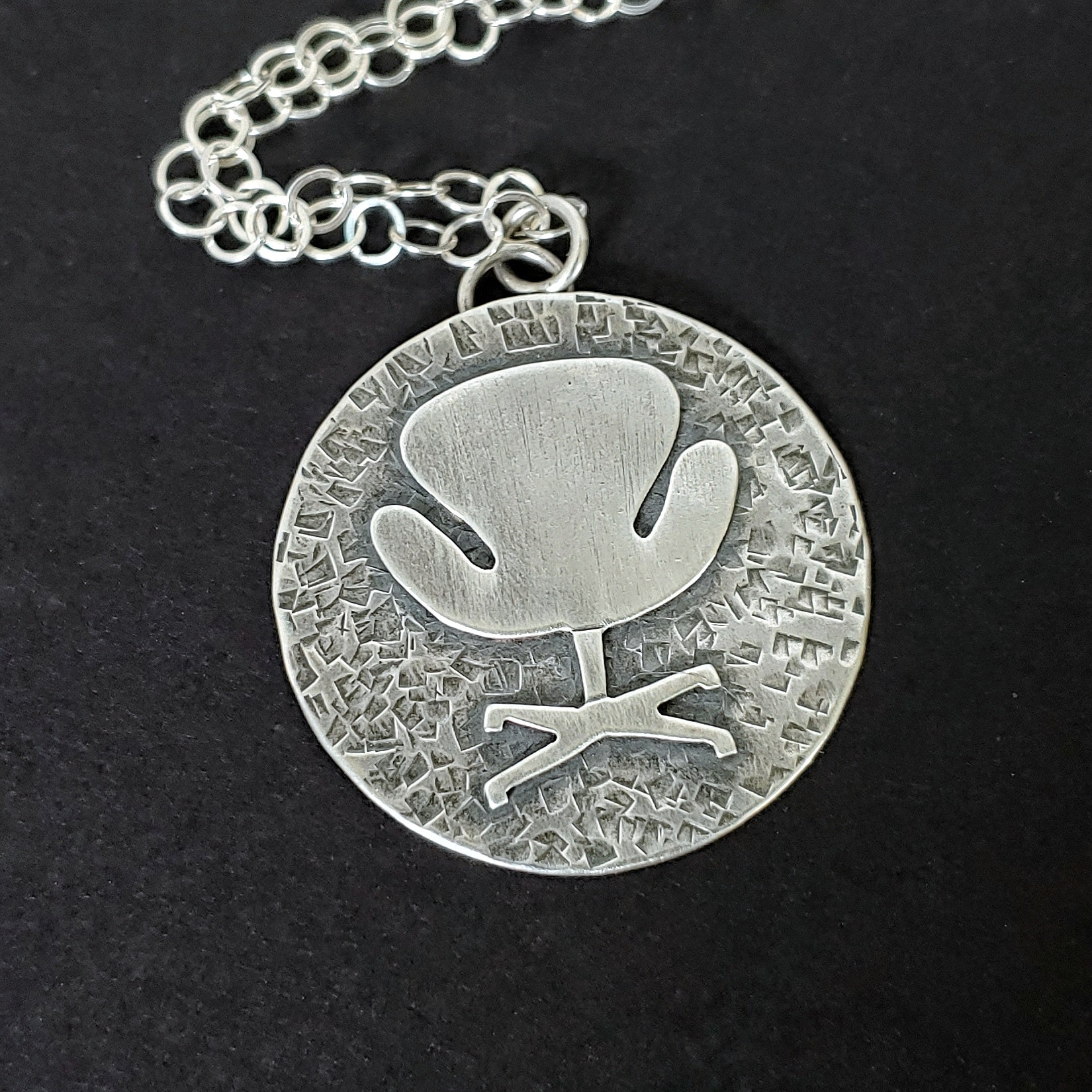 Swan Chair Necklace in Sterling silver